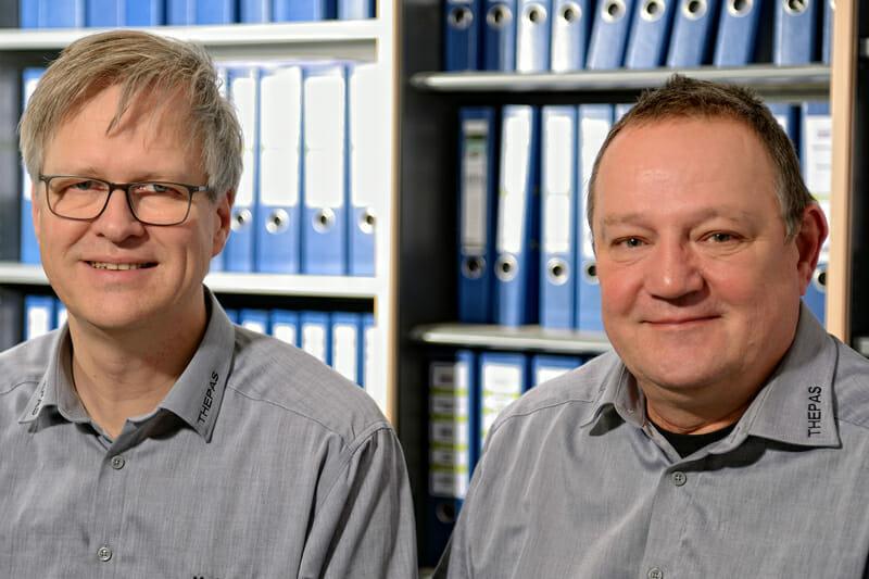 Manfred Schlosser und Michael Theves – Geschäftsführer von Thepas