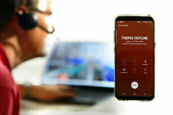 THEPAS Hotline spezialisiert für Intralogistik – Button